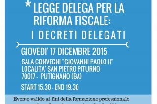 Legge delega per la riforma fiscale: i decreti delegati